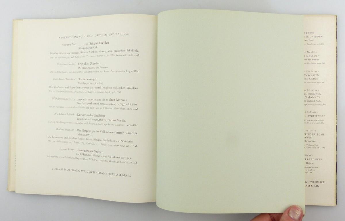 #e8654 Buch Dresden - Vision & Erinnerung mit 90 Abbildungen von 1965 9