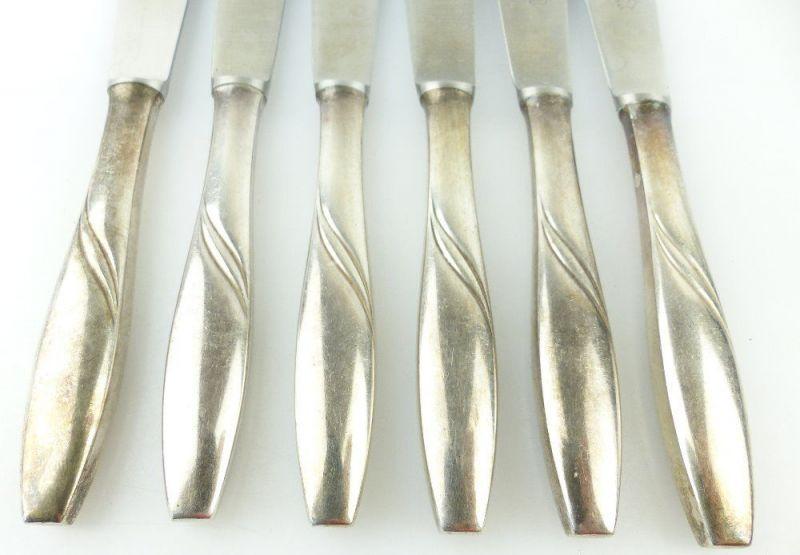 #e2299 Sechs alte Messer in 40er Silberauflage 2