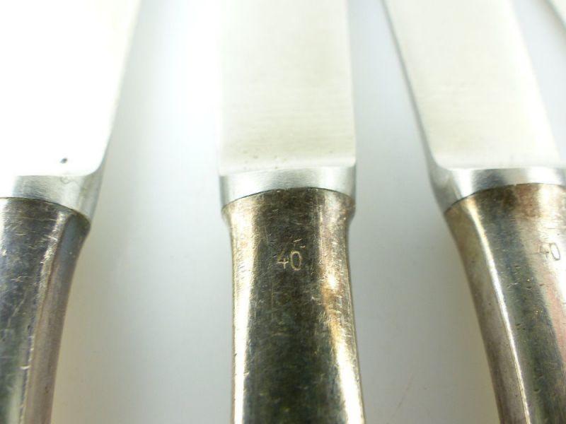 #e2299 Sechs alte Messer in 40er Silberauflage 9