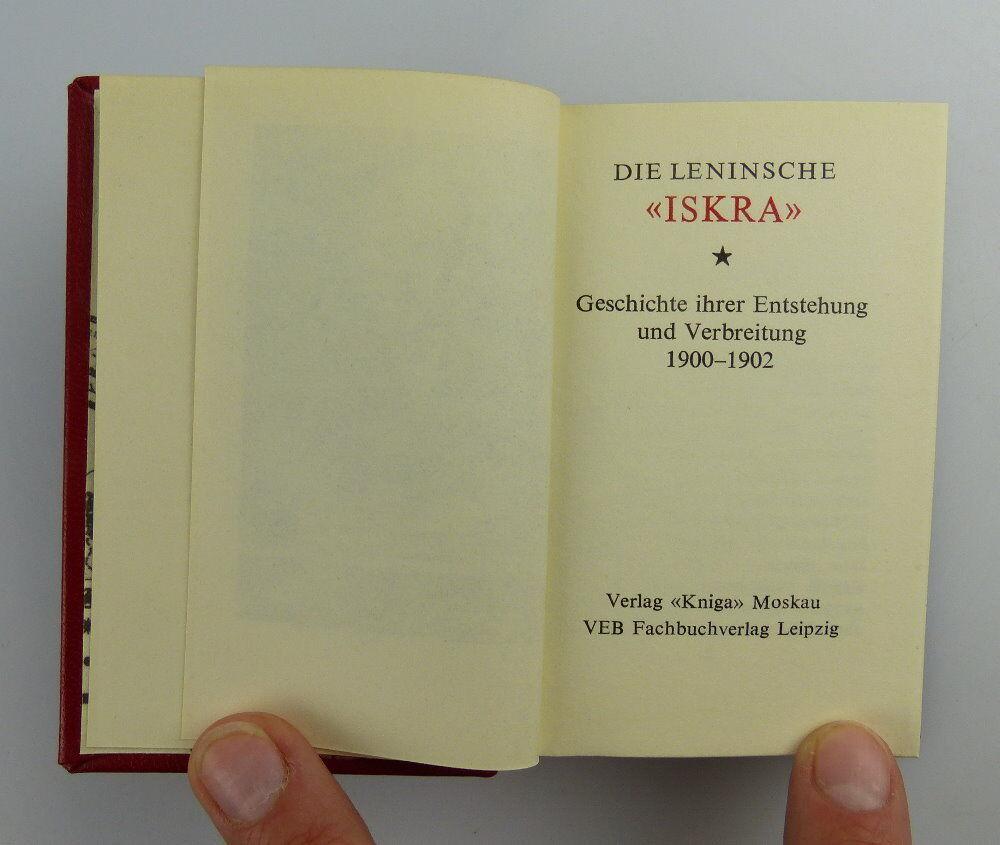 Minibuch: Iskra Die leninsche Iskra Verlag Kniga Moskau e019 3