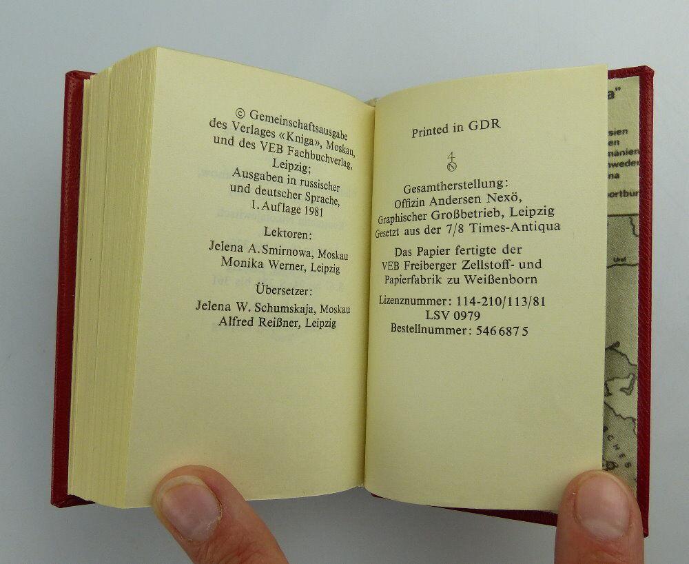 Minibuch: Iskra Die leninsche Iskra Verlag Kniga Moskau e019 4