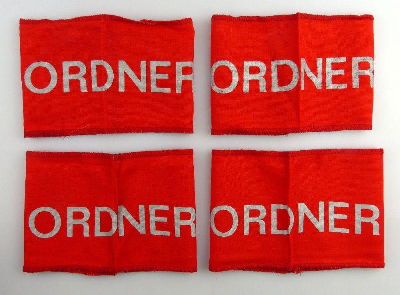 4 DDR Ordner Armbinden für Veranstaltungen, Festivals, Orden3136
