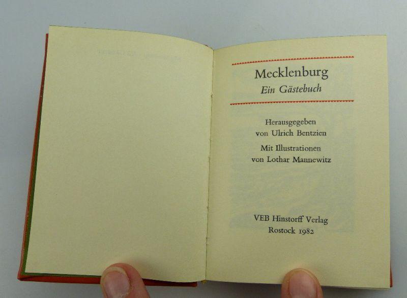 Minibuch: Mecklenburg - ein Gästebuch VEB Hinstorff Verlag e016 2