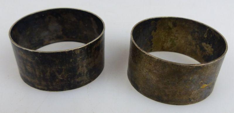 2 dekorative Serviettenringe in 800 (Ag) Silber  (norb727) 0