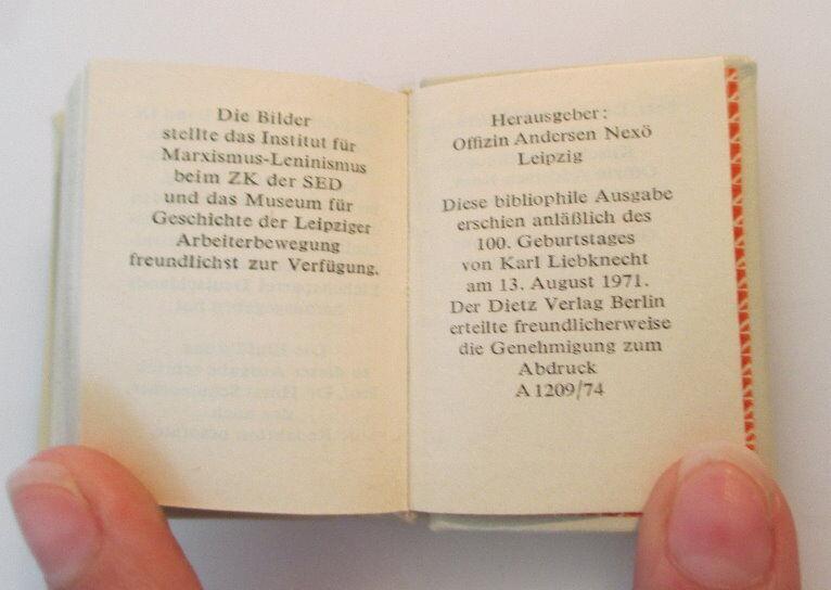 Minibuch: Karl Liebknecht Briefe aus dem Zuchthaus bu0146 5