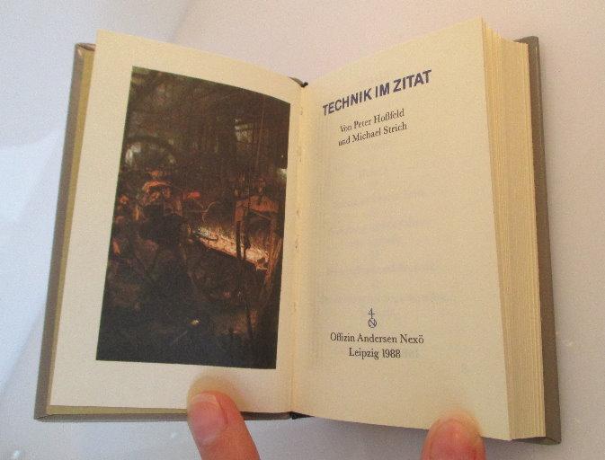 Minibuch: Technik im Zitat Peter Hoßfeld und Michael Strich bu0145 2