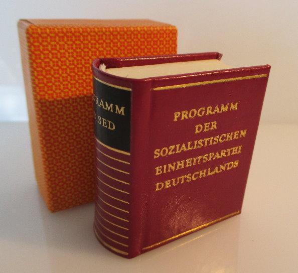 Minibuch: Programm der sozialistischen Einheitspartei Deutschlands bu0143 0