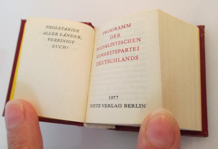 Minibuch: Programm der sozialistischen Einheitspartei Deutschlands bu0143 3