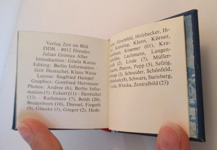 Minibuch: Berlin capital of the GDR Buch in englischer Sprache bu0141 5