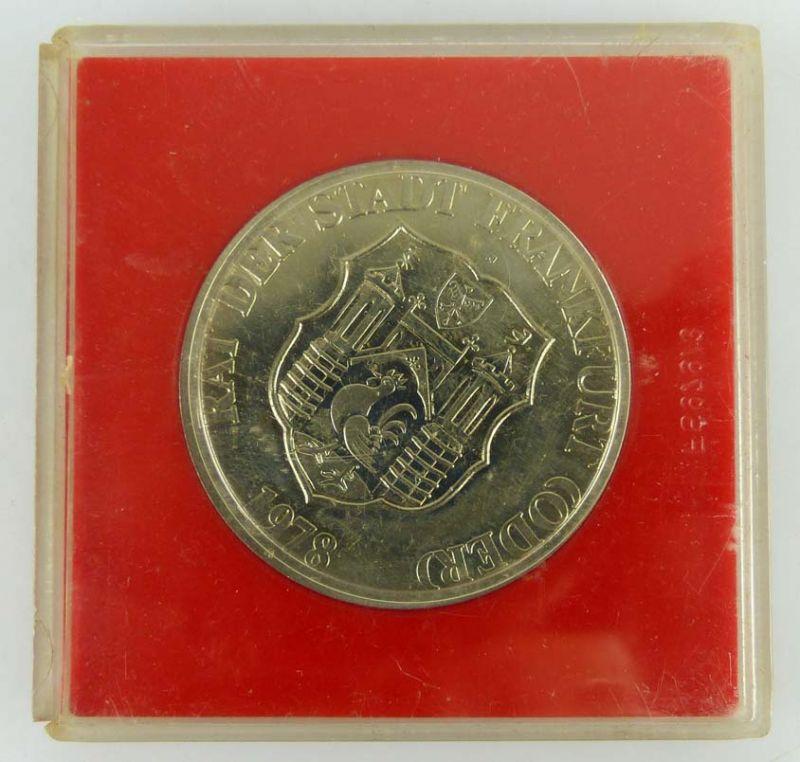 Medaille 725 Jahre Frankfurt Oder 1253-1978 Rat der Stadt Frankfurt Oder 1978 0