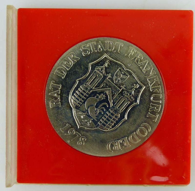 Medaille 725 Jahre Frankfurt Oder 1253-1978 Rat der Stadt Frankfurt Oder 1978 1