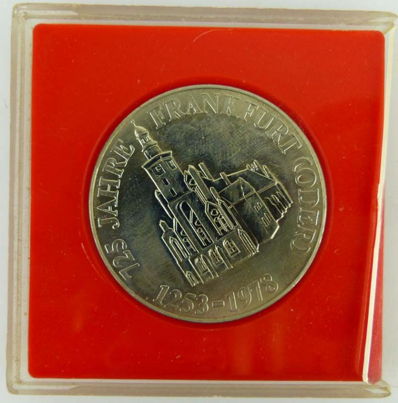 Medaille 725 Jahre Frankfurt Oder 1253-1978 Rat der Stadt Frankfurt Oder 1978 2