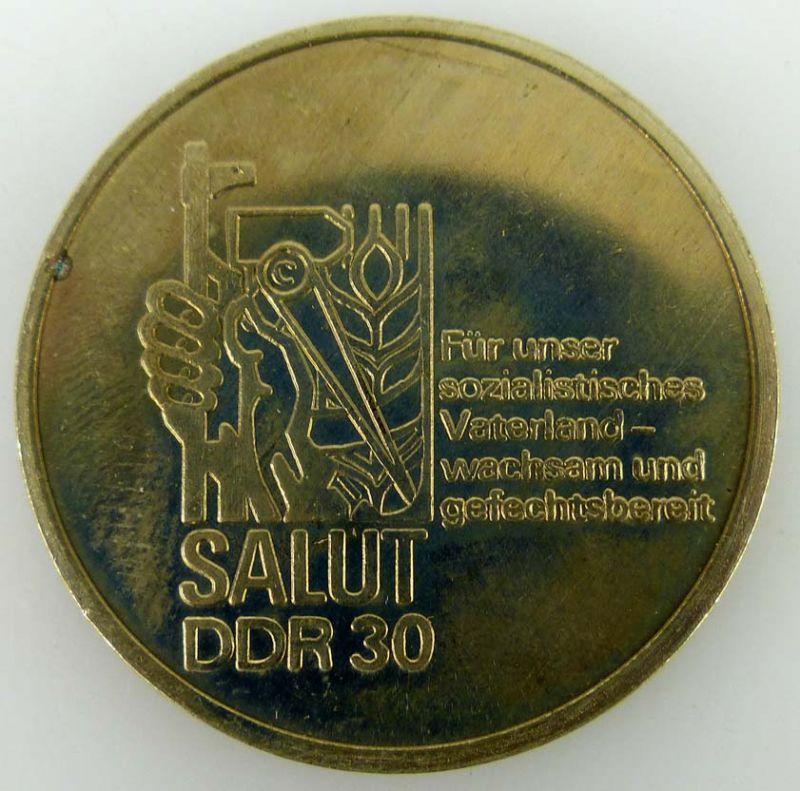 Medaille Salut DDR 30 für unser sozialistisches Vaterland- wachsam und gefechtsb 1