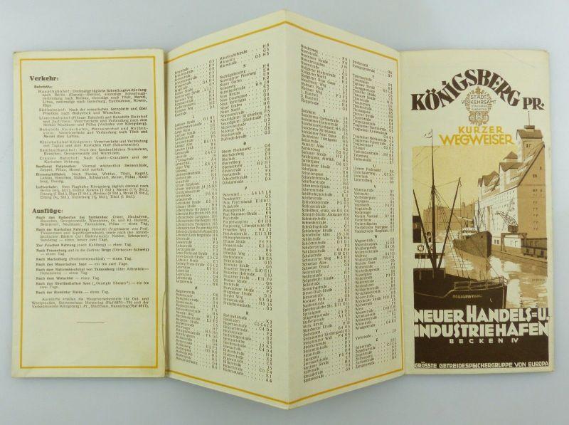 #e8538 Kurzer Wegweiser Königsberg Pr. Spirgatis Verkehrsamt Stadthaus Hansring 2