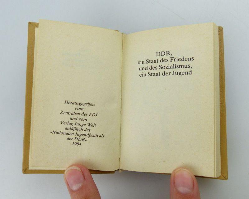 Minibuch: DDR ein Staat des Friedens und des Sozialismus  FDJ e255 2