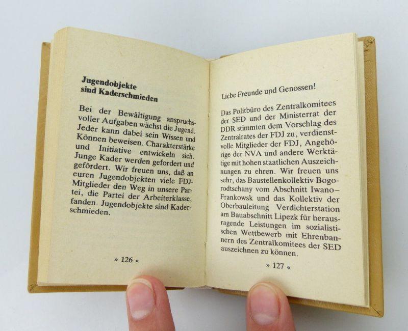 Minibuch: DDR ein Staat des Friedens und des Sozialismus  FDJ e255 4