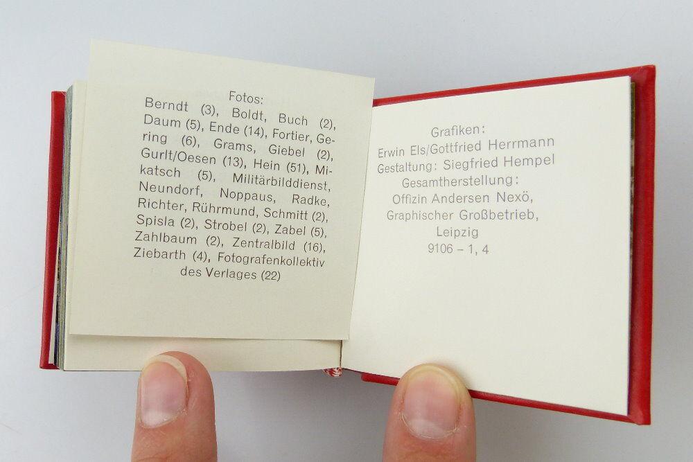 Minibuch: Bekenntnis und Tat Leipzig 1979 Offizin Andersen Nexö e253 5
