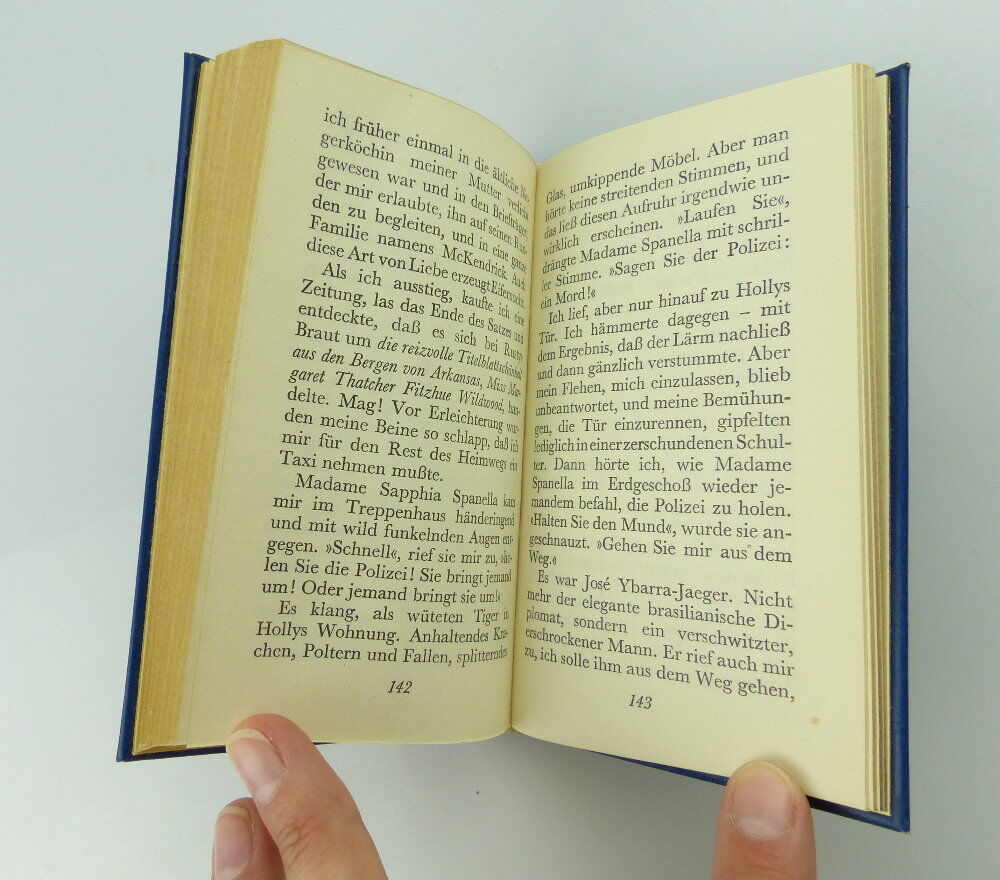 Minibuch: Truman Capote - Frühstück bei Tiffany mit Vollgoldschnitt!! e250 3