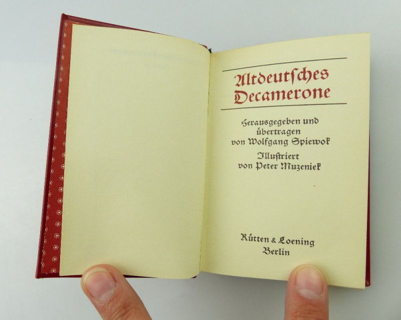 Minibuch: Altdeutsches Decamerone Rütten und Loening Berlin e247 3