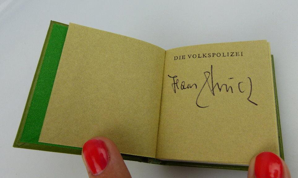 Minibuch: Die Volkspolizei Offizin Andersen Nexö Leipzig mit Signatur bu0299 2