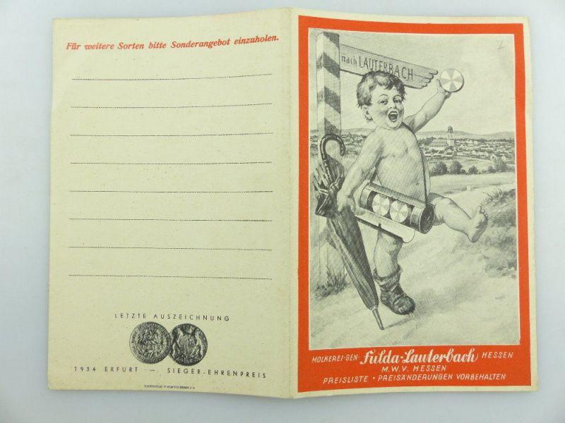 Original alte Preisliste  Fulda Lauterbach Hessen e942 2