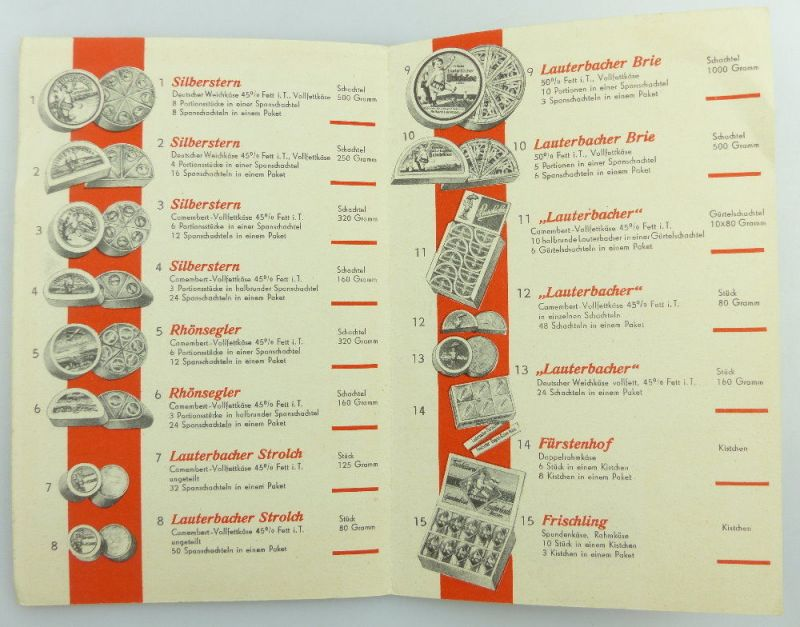Original alte Preisliste  Fulda Lauterbach Hessen e942 3
