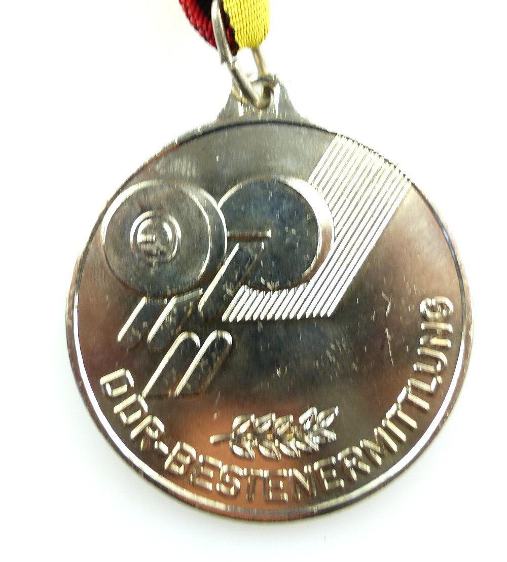 #e4165 DDR Medaille Bestenermittlung Deutscher Gewichtheber Verband der DDR 1