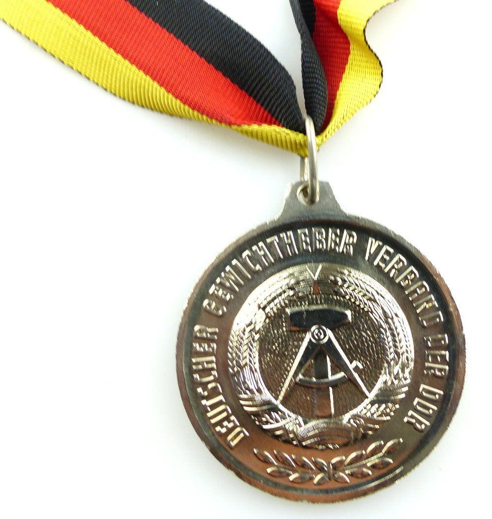 #e4165 DDR Medaille Bestenermittlung Deutscher Gewichtheber Verband der DDR 2