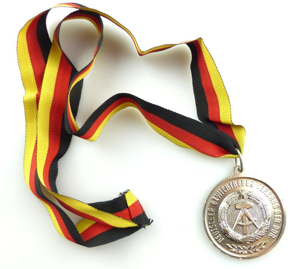 #e4165 DDR Medaille Bestenermittlung Deutscher Gewichtheber Verband der DDR 3