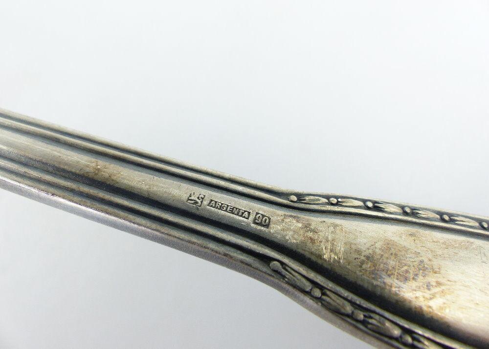Original alte Suppenkelle /Kelle Silberauflage Jugendstil 90er Auflage e514 5