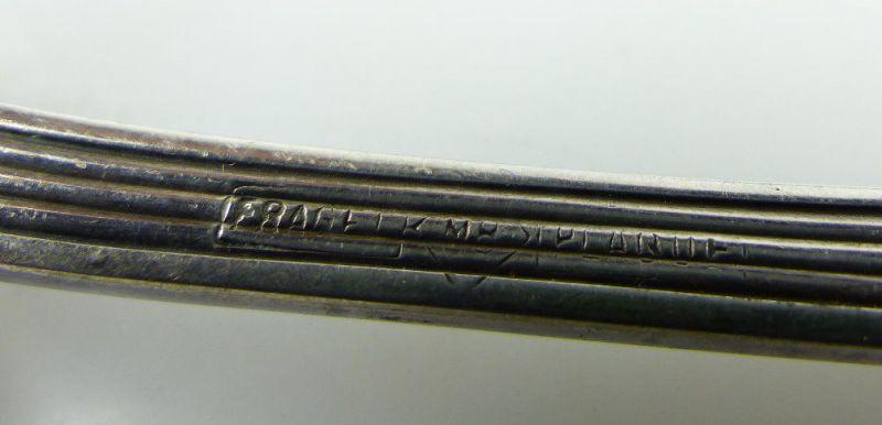 Altes Fischvorlegebesteck Vorlegegabel und Vorlegemesser Silberauflage e513 4