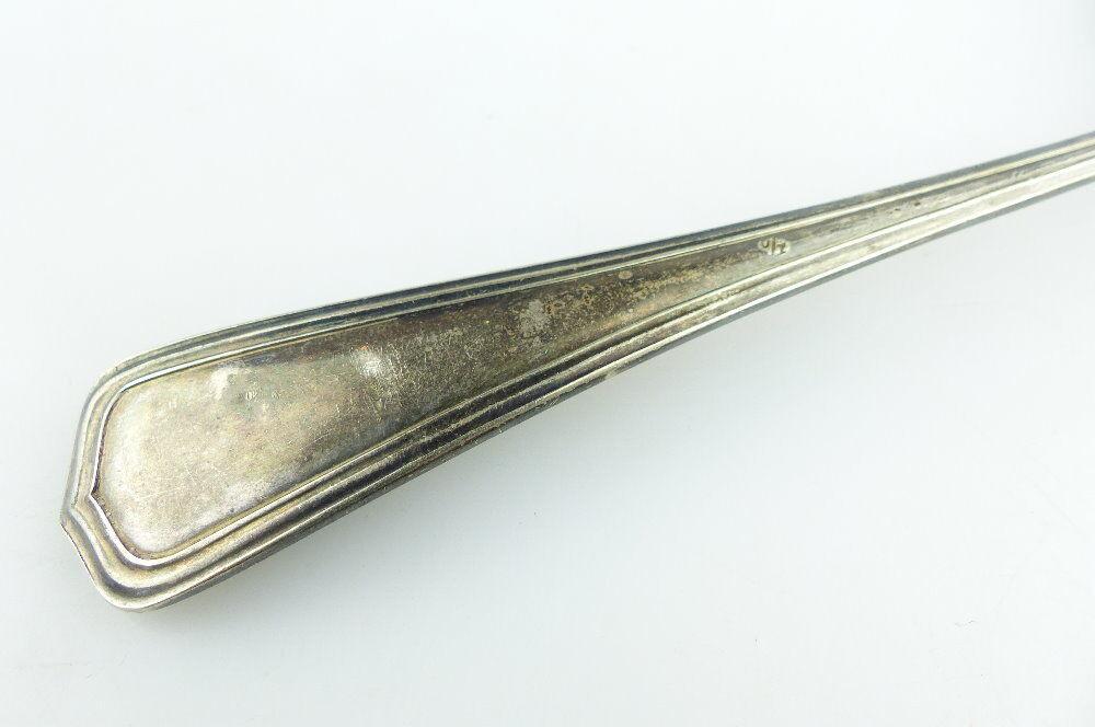 Original alter Vorleger großer Fischvorleger Silberauflage WMF Jugendstil e512 3