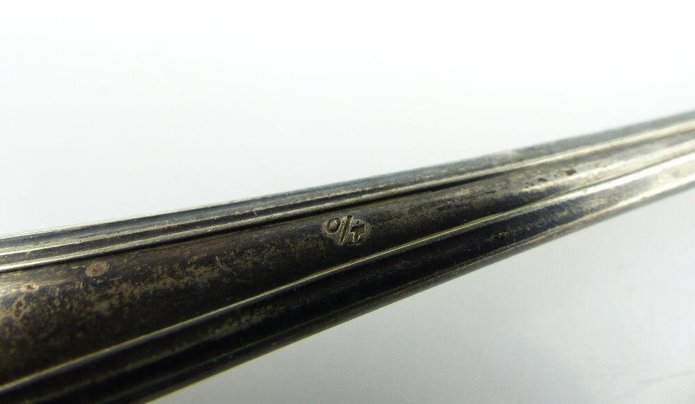 Original alter Vorleger großer Fischvorleger Silberauflage WMF Jugendstil e512 4