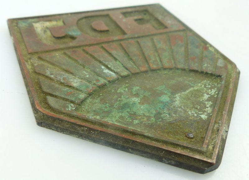 Druckplatte, Stempel: FDJ, so139 2