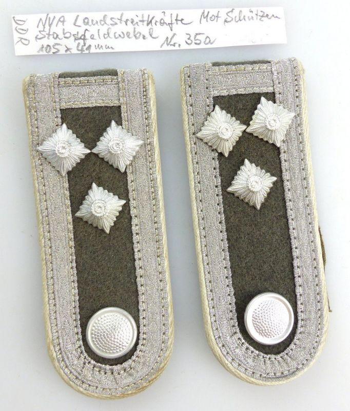 #e3614 Paar DDR NVA Schulterstücke Landstreitkräfte mot. Schützen Stabsfeldwebel