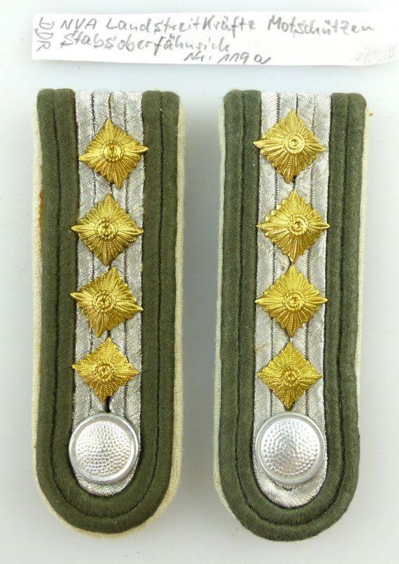 #e3609 1 Paar DDR NVA Schulterstücke Landstreitkräfte Stabsoberfähnrich Nr. 119a