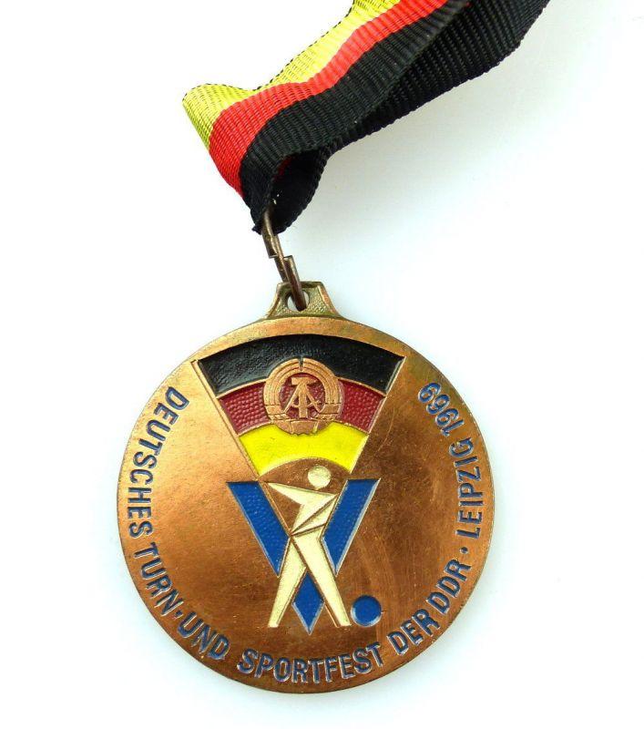 #e4049 Medaille V. Deutsches Turn- und Sportfest der DDR Leipzig 1969 20 Jahre