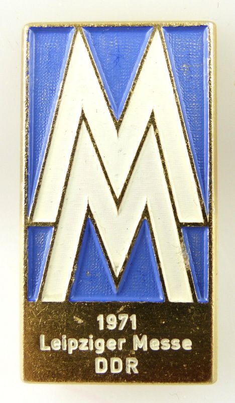 Abzeichen: Leipziger Messe 1971 DDR MM e1118