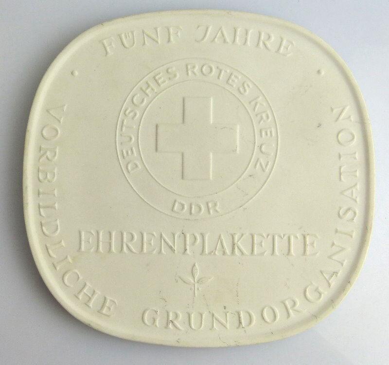 Meissen Medaille: Ehrenplakette DRK 5 Jahre vorbildliche Grundorganis, Orden2200