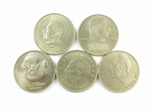 #e6403 5 x 20 Mark Münze Karl Marx, Grotewohl, Thälmann, Pieck, Schiller