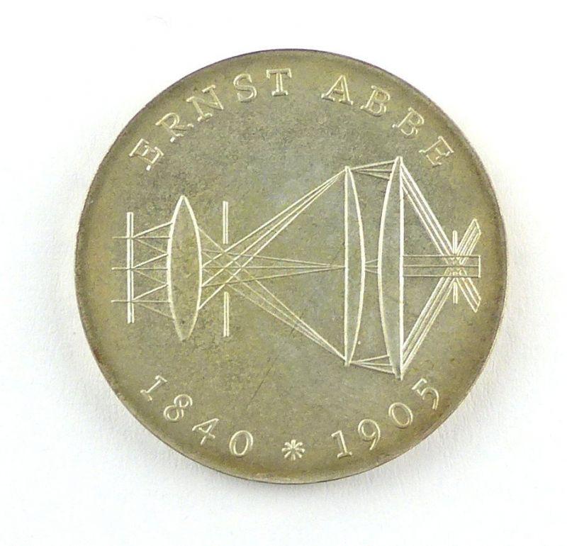 #e6401 DDR Gedenkmünze aus dem Jahr 1980 20 Mark Ernst Abbe 1840-1905