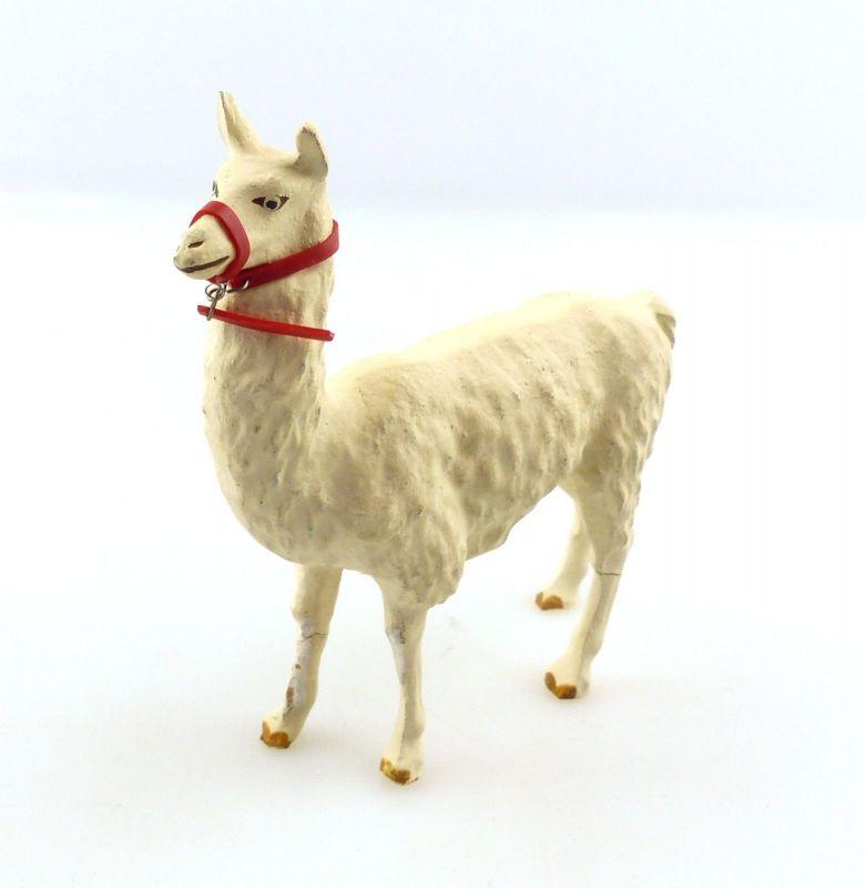 E9398 Lama Masse Tier wohl Lineol 50er Jahre mit Zaumzeug