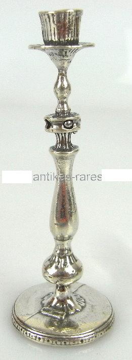 Toller 1 flammiger Puppenstuben-Kerzenleuchter in 925 (Ag) Silber
