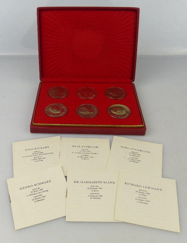 6 Medaillen: SED Bezirksleitung Leipzig, Jungbluth, Heckert, Blank, Orden1764