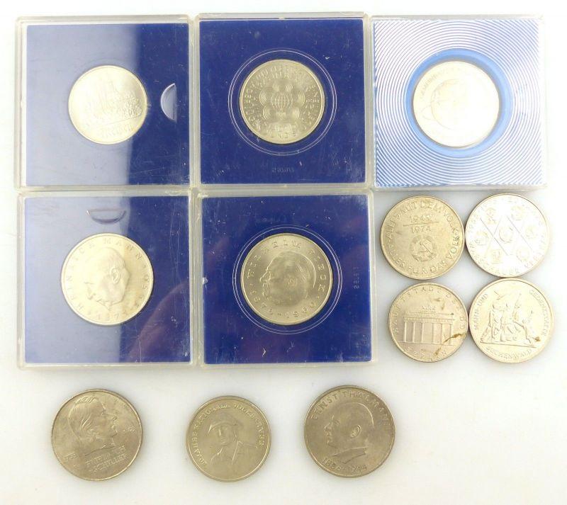 E9760 12 alte Sondermünzen der DDR insgesamt 150 DDR Mark