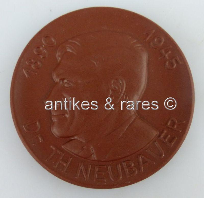 Meissen Medaille: Dr. Th. Neubauer 1890-1945, Akademie der pädagogischen Wissens