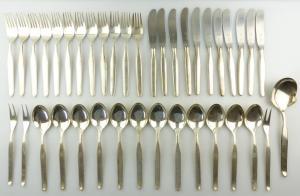 E9799 39 teiliges versilbertes Besteck von Wellner 90er Silberauflage