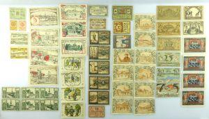 Verschiedene Serien Notgeld - 55 Scheine z.B. Paulinzella, Oldisleben etc. e1008