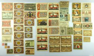 Verschiedene Serien Notgeld - 57 Scheine z.B. Pasing, Passau, Soltau etc. e1007