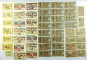 Verschiedene Serien Notgeld - 51 Scheine - Fürstenberg, Berlin etc. e1005